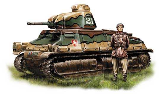 Лучший французский танк S-35 «SOMUA»