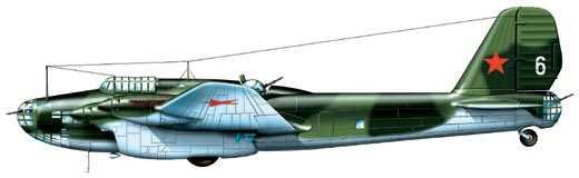 Дальний бомбардировщик ТБ-7 (Пе-8), СССР, 1941 г.