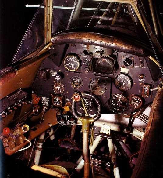 Внутри кабины самолета