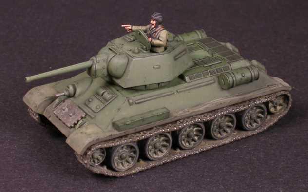 Игровой покрас Т-34/76 в масштабе 1/100