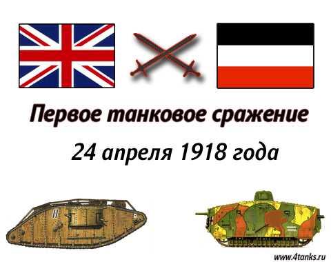 Первое танковое сражение в Истории