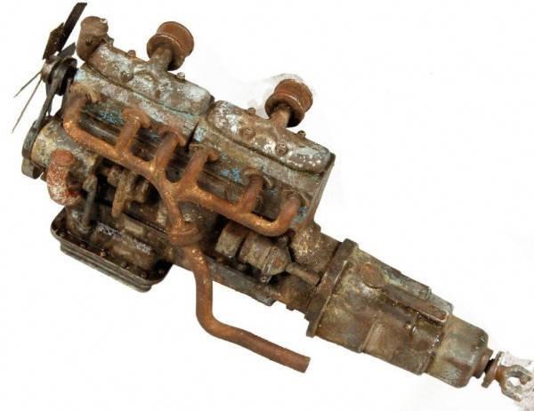 Старый двигатель (покраска и выветривание)