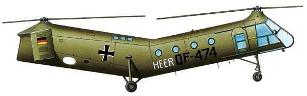 «Летающий банан» Н-21 Фрэнка Пясецкого на вооружении бундесвера