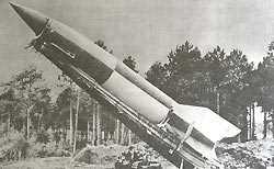 Немецкая ракета Фау-2 на стартовой позиции.