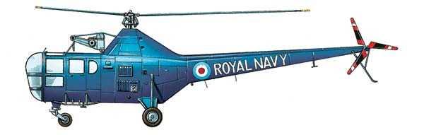 Первый серийный боевой вертолет, построенный англичанами WS-51