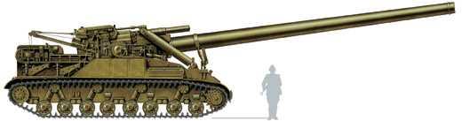 Одна из самых мощных самоходных артиллерийских установок — 406-мм самоходная пушка СМ-54 (2А3, «Конденсатор-П») для стрельбы ядерным боеприпасом, СССР, 1957 год