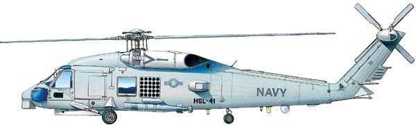 Ударный вертолет США SH-60B Sea Hawk с взлетной массой 9,5 тонны